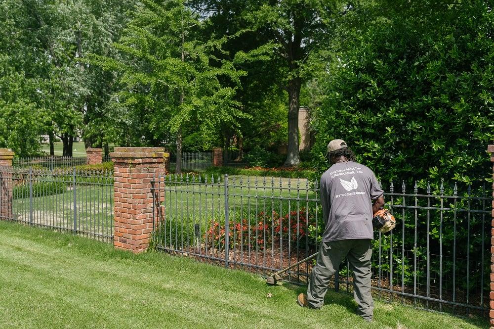 Michael Hatcher & Associates landscape technician