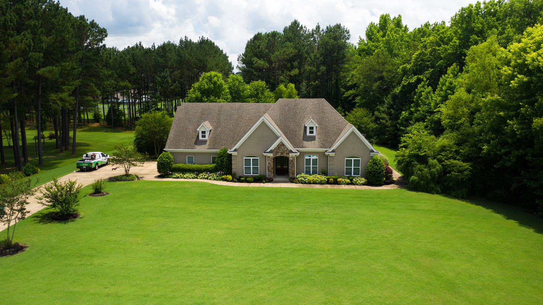 Lush green lawn in Tennessee heat