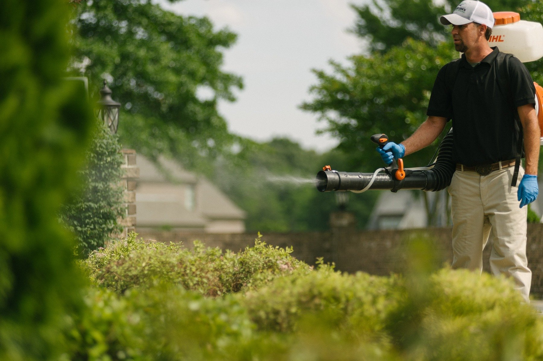 Mosquito control technician spraying in Memphis