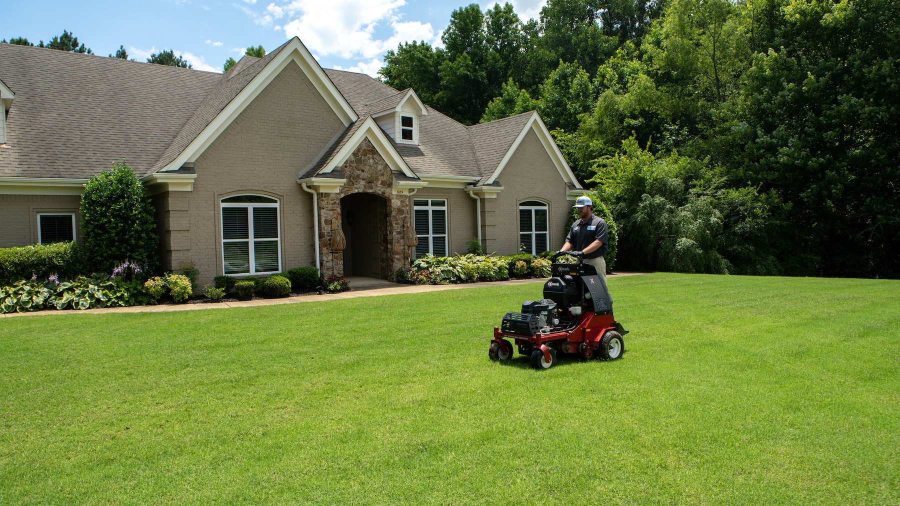 Perform lawn aeration before overseeding