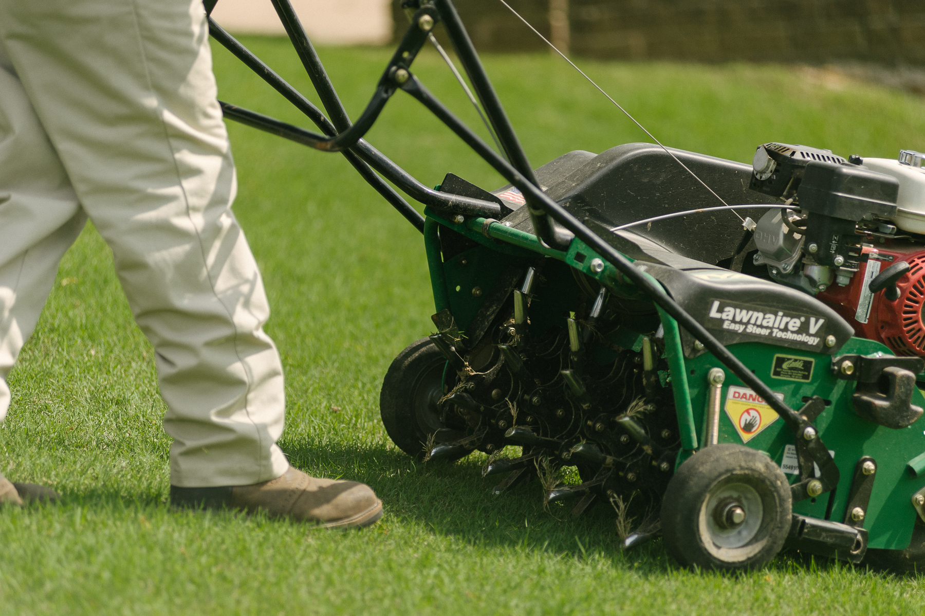 lawn aeration equipment
